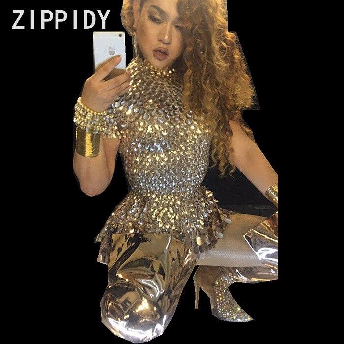 Paillettes scintillantes Stretch Style court robe discothèque femme chanteuse spectacle tenue femmes fête d'anniversaire Sexy Performance robes