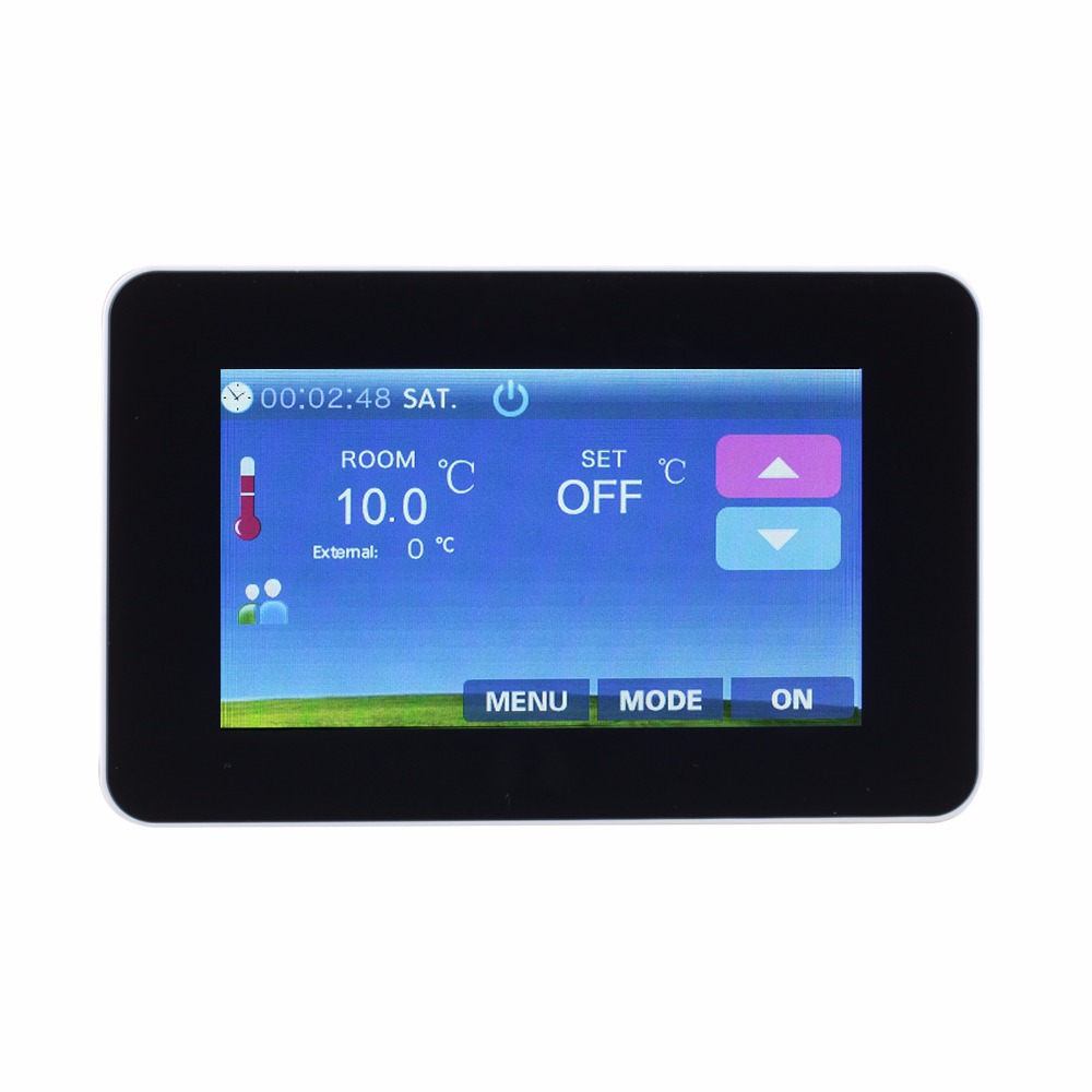 colour touch screen thermostat underfloor heating room thermostat 16A glass panel touch screen thermostat electric thermostat room thermostat underfloor heating programmable thermostat 16a v8 716 switch