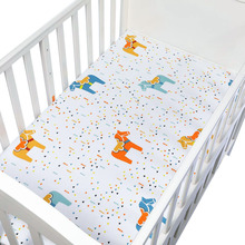 Comfortable Baby Mattress Cover Baby Fitted Sheet Print For Crib Customized Baby Crib Fitted Sheet Soft Baby Bed Sheet 130*70cm
