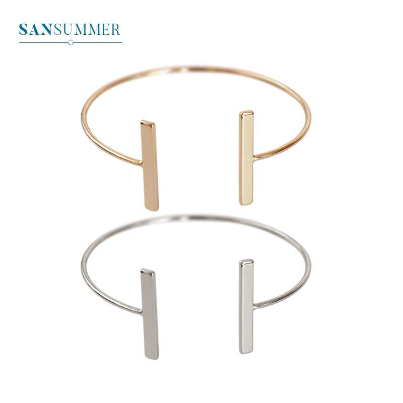Personality Geometric Women Bracelet Trendy Charm Bracelets & Bangles Pulseira Feminina Party Wedding Accessories Simple Jewlery