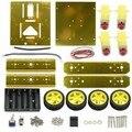 DIY KIT 4WD Привод Алюминия Мобильный Робот Платформа для Робота Arduino Raspberry Pi * Gold *