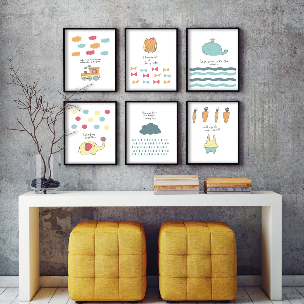 popular image posters buy cheap image posters lots from china modern simple cartoon whal a4 art print poster image canvas mural room children s baby bedroom home