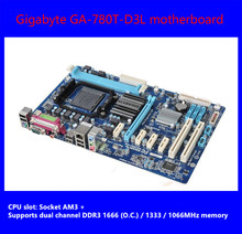 100% Оригинальные 780T-D3L материнская плата для Gigabyte GA-780T-D3L DDR3 разъем AM3 + gigabi T Ethernet ATX Бесплатная доставка