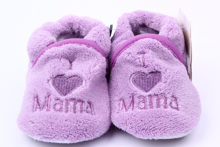 Soft Baby Toddler Shoes Kids Boy Girls Heart Letter Pattern Crib Shoes 0-1Y