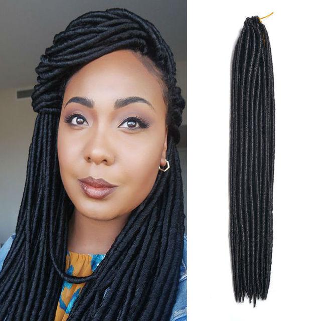 Crochet Faux Locs Crochet Hair 18 Inch 1b Aliexpress Synthetic Hair