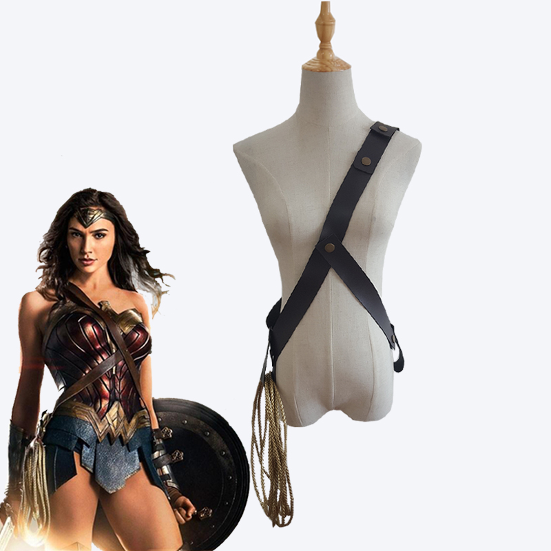 Movie Wonder Woman Princess Diana Cosplay Props Turth Rope String With Belt Halloween Carnival Cosplay Accessories Custom Made