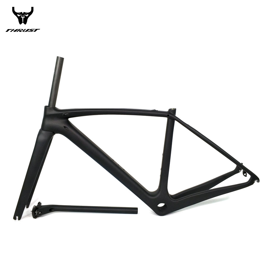 THRUST Road Bicycle Bike Carbon Frame XXS XS S M L Carbon Road Frame China BSA BB30 PF30 T1000 Carbon Bike Frame 2 year Warranty orge latest ud weave super light carbon road bike frame ud matt bicycle road frameset bsa bb30 pf30 size xxs xs s m l xl