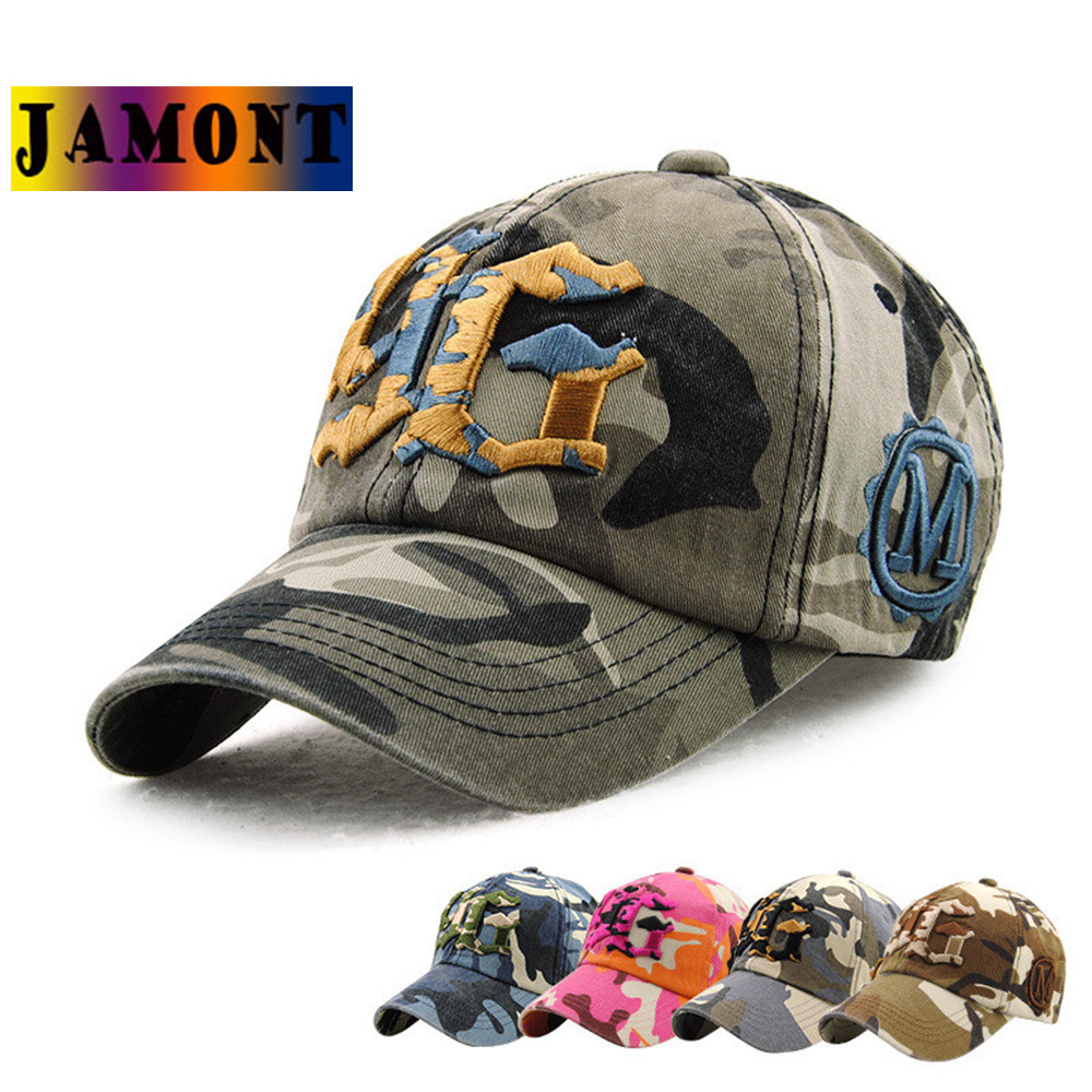 JAMONT 2017 Summer New Cartoon Adjustable Baseball Caps Snapback Hats For youth Men Women Fashion Camouflage Sun Bone Hat brand kenmont new summer hats for women 100