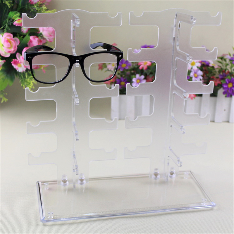 1pcs Plastic 10 Pairs Glasses Storage Rack Eyeglasses Sunglasses Display Rack Stand Holder Glasses Show Stand Rack