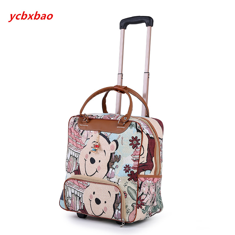 Image 3 - Women Trolley Luggage Rolling Suitcase Casual Stripes Rolling Case Travel Bag on Wheels Luggage Suitcase with Wheels-in Rolling Luggage from Luggage & Bags