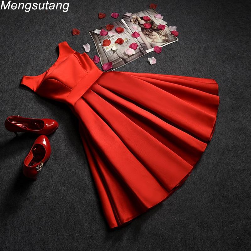 Robe de soiree 2019 Schulterfrei Abendkleid rot kurz plus size Lace Up Vestido De Festa Prom Kleider Partykleider 3 Farben