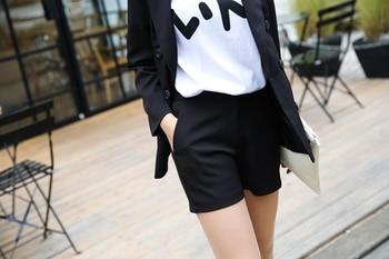 Ladies Turn-down Collar Short-Suit