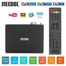 Mecool K6 DVB-S2 DVB-T2 Android TV Box Hisilicon Hi3798M 2GB RAM 16GB ROM 64bit 2.4/5GHz Dual Wifi BT4.1 4K Ultra HD MECOOL KM3 цена и фото