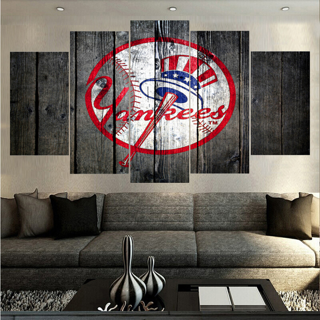 Promocional lienzo Nueva York Yankees Logo impresiones cartel Wall ...