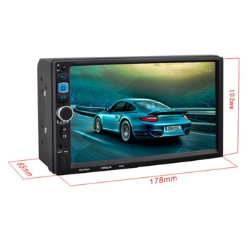 7 inch 1080p Touch Screen 2-DIN Car In Dash Android 5.1.1 MP4 MP5 Player Bluetooth Stereo with Rear Camera DVR GPS
