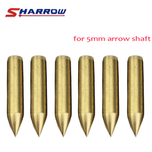 Sharrow 30 Pieces Archery Target Broadhead in Hunting Arrowhead For 5mm Arrow Shaft Shooting Accessory