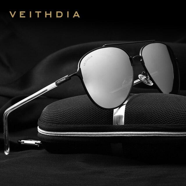 77271239c0 VEITHDIA With Original Box Vintage Pilot Brand Designer Male Sunglasses Men Women  Sun Glasses gafas oculos de sol masculino 3802