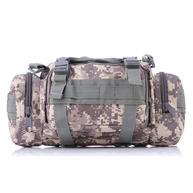 8f5920aa7730 Camouflage 3P Military Tactical Backpack Duffle Waist Outdoor Sports Bag  Nylon 600DTravel Bag Rucksack Camping Hiking Bags