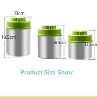 Vacuum Food Container Stainless Steel Kitchen Storage Without Pump Bottles Jars for Coffee Bean