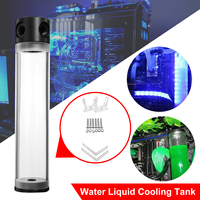 LEORY Computer CPU G1/4 Thread Cylinder Reservoir Tank Acrylic Helix Suspension PC Water Liquid Cooling Tank Water Cooler Kit