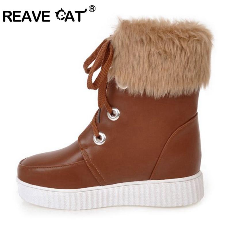 Chaud Botte Bottine neige Chaussures d'hiver sucrerie de couleur neige Bottines rZZWdIS