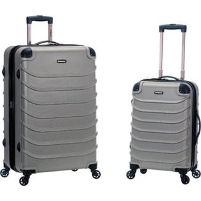 Rockland F230-SILVER 20 x 28 in. Speciale Expandable Abs Spinner Suitcase Set Sliver - 2 Piece pm company expandable dark green transit sack 18w x 4d x 14h 04647 dmi ea
