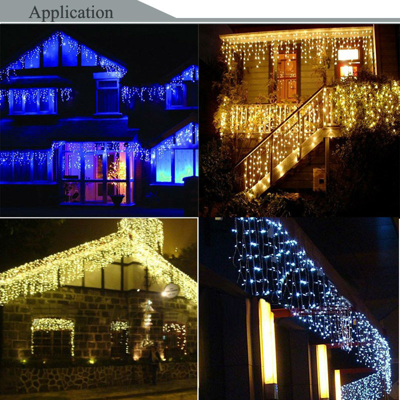 HOTOOK Holiday Lighting Jul LED Curtain String Fairy Lights IP65 4m - Ferie belysning - Foto 5