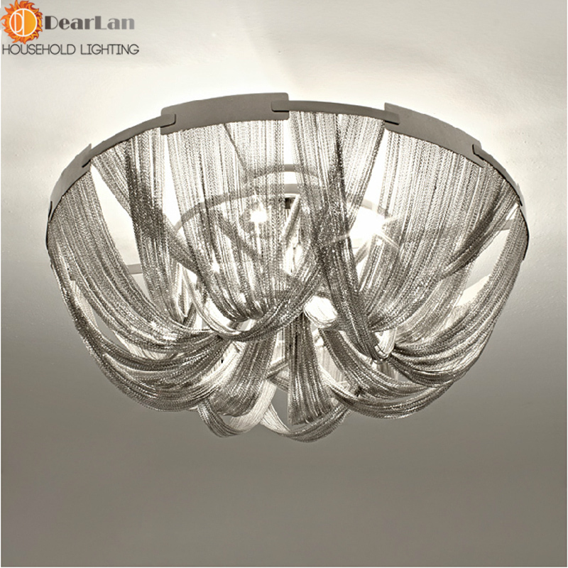 Modern style silver cloth art pendant lamp engineering design luxury modern style silver cloth art pendant lamp engineering design luxury chain tassel aluminum chain led beautiful pendant lights in pendant lights from lights aloadofball Choice Image