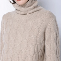High Collar Turtleneck Cashmere Sweater Women Thick Pollover Sweater Fashion 2017 Autumn And Winter New Twist