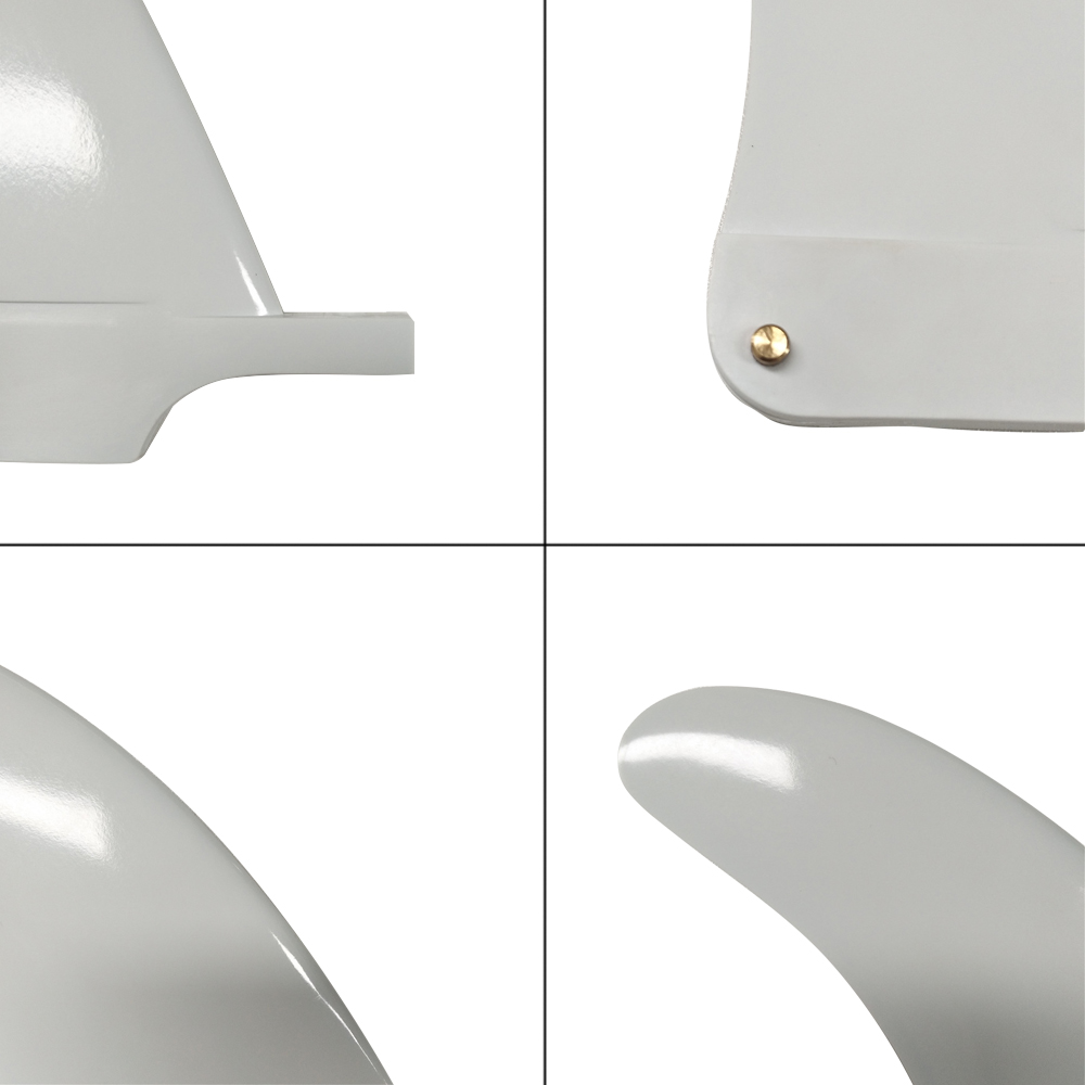 Surf Long Board Surf Fin 6 5 quot Length Center Fins White color Fin Surfboard Fin in Surfing from Sports amp Entertainment