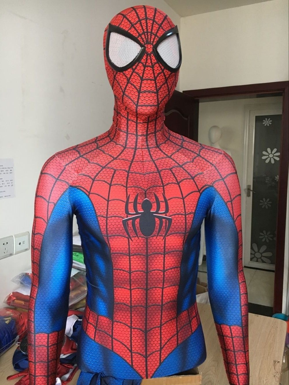 2017 New Spider Man Superhero Costume 3D Print Fullbody Halloween Cosplay Suit Spiderman Costume For Adult/Kids/Custom Made