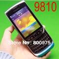 Original blackberry torch 9810 teléfono móvil smartphone desbloqueado 3g wifi bluetooth gps 8 gb de almacenamiento 9810 celular y de la plata