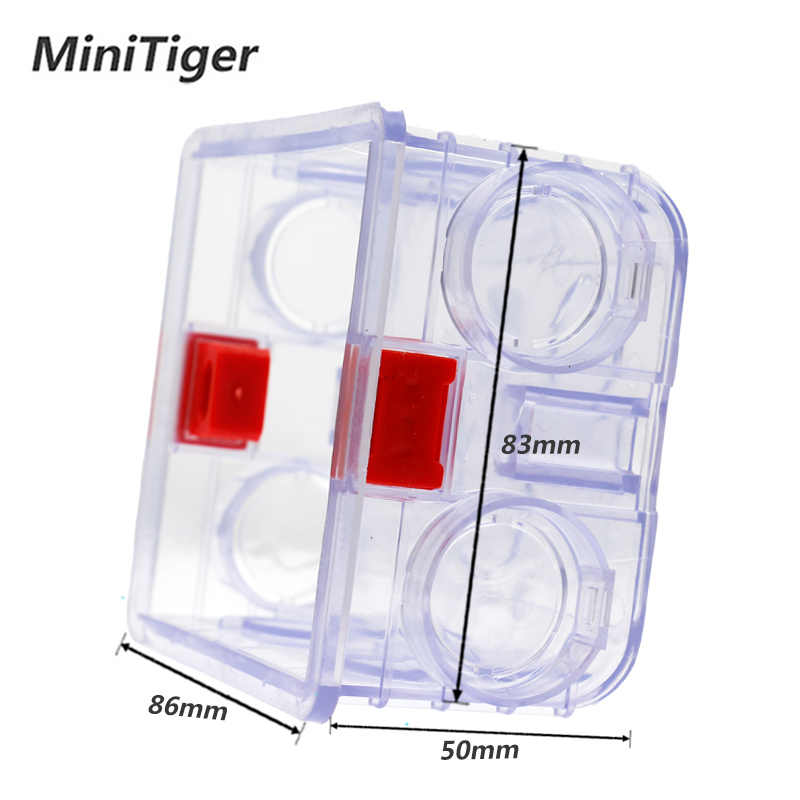 Minitiger Регулируемая прозрачная Монтажная коробка внутренняя кассета 86 мм * 83 мм * 50 мм для 86 типа wifi сенсорный переключатель и USB разъем