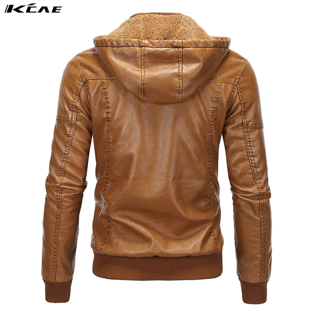 2016 Motorcycle Leather Jackets Men Winter Hooded Plus velvet Leather Clothing Men Leather Jackets Male  Coats Casual Style