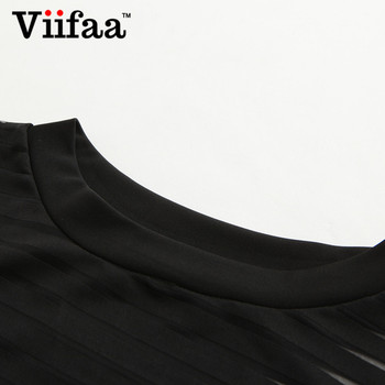 Viifaa Sexy Black Bodysuit Women See-Through Mesh Bodycon Bodys Transparent Body Femme Night Out Summer Party Bodysuits 8