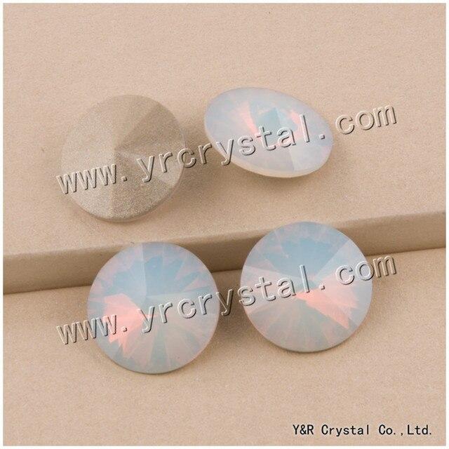 YANRUO  1122 6 8 10 12 14 16 18 mm White Opal Pointback High Quality ... 3f4f77a0c434