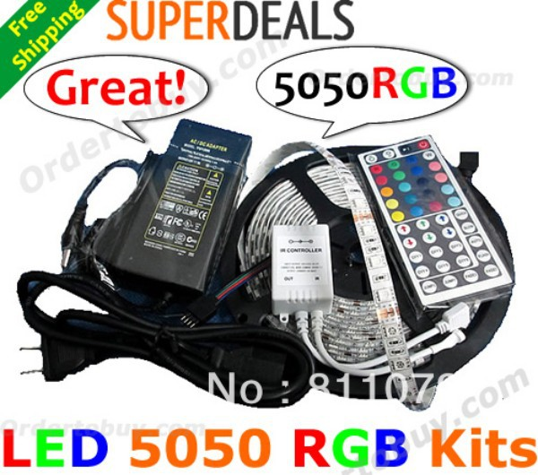 RGB LED traka svjetla 5050 60LEDs / M 300LEDs 5M vodootporna vanjska - LED Rasvjeta