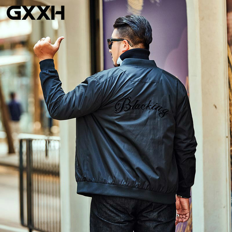GXXH Brand Jacket 2019 New Autumn Tide Brand Fat Big Size Men's Coat Leisure Loose Man's Plus Size Xxl 7xl Winter Jacket Clothes