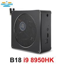 Partaker Intel i9 8950HK 6 Core 12 Threads Mini PC Windows 10 Pro 2*DDR4 AC Wifi Desktop Computer HDMI