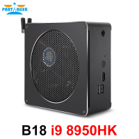 Partaker Intel i9 8950HK 6 Core 12 Threads Mini PC Windows 10 Pro 2*DDR4 AC Wifi Desktop Computer HDMI