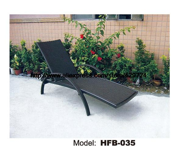 Outdoor Sun Lounger Modern Rattan Lying Chair Swing Pool Graden Beach Sun Lounger Lying Sofa Bed Rattan Longue Chair Furniture