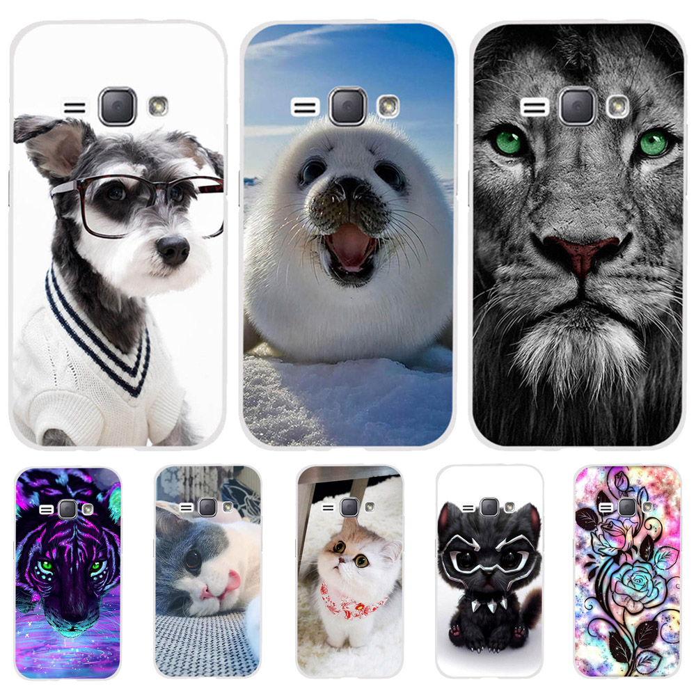 For Samsung Galaxy J1 2016 J120 J120F Case Cover Silicone Cat Dog Funda Phone Cases