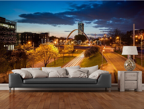 Custom photo wallpaper, Manchester skyline 3 d wallpaper murals for the sitting room the bedroom TV setting wall PVC wallpaper custom wallpaper for walls 3 d ancient rome statue to the sitting room the bedroom tv setting wall waterproof pvc wallpaper