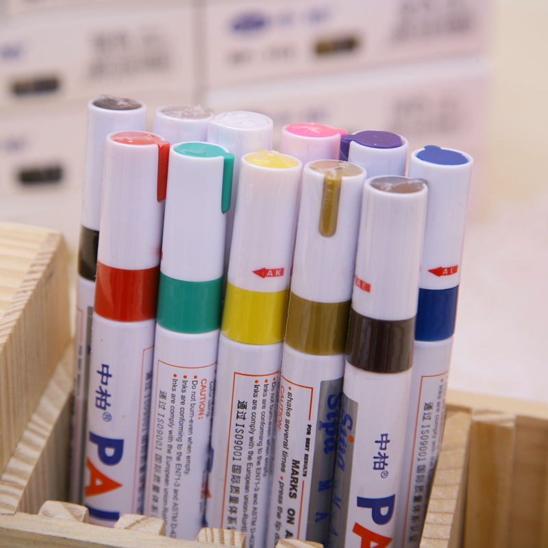 12 Colores Paint Pen Marker Permanent,  Pen For Writting On Fabrics Glass Wood Oil Purple/pink/blue/coffee/gold/silver