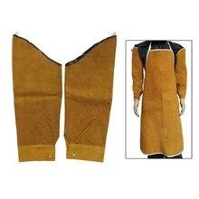 Бесплатная доставка, термостойкие сварочные рукава из спилка, Защитная повязка для сварочного инструмента