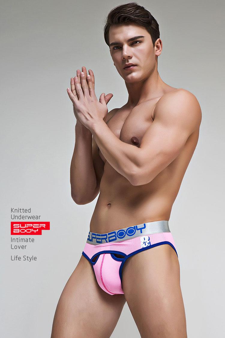 Topdudes.com - New Style Sexy Solid Mesh Breathable U Convex Briefs Cotton Underwear