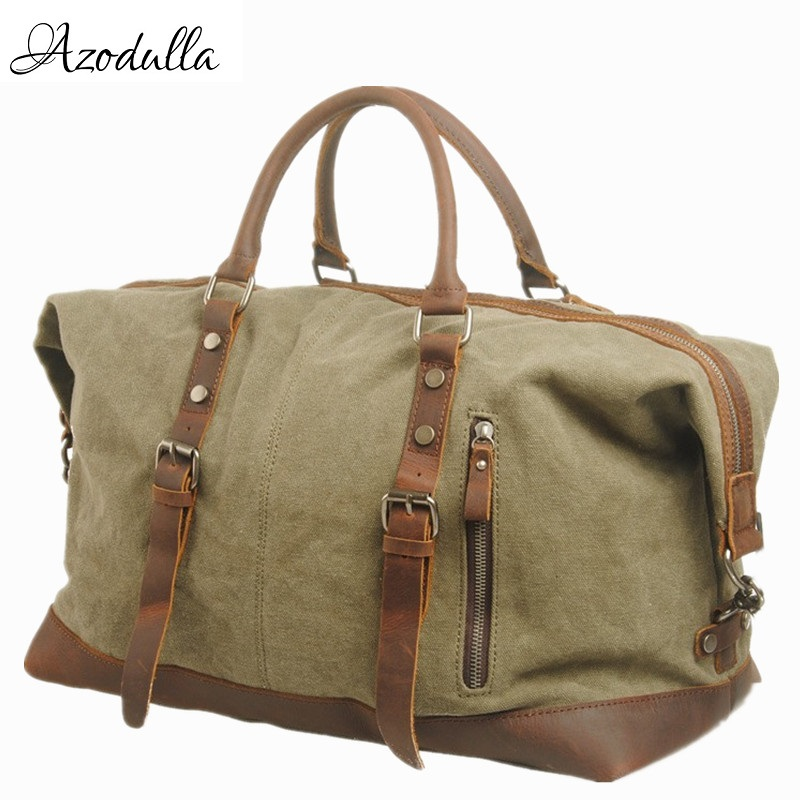 M057 Men Travel Bags Military Canvas Duffle bag Large Capacity Luggage Weekend Bag Vintage Designer Carry
