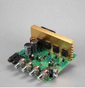 Image 1 - 100W + 100W 2.0 Audio Eindversterker Board Hifi Stereo Versterking Digitale Reverb Microfoon Versterker Tone Board