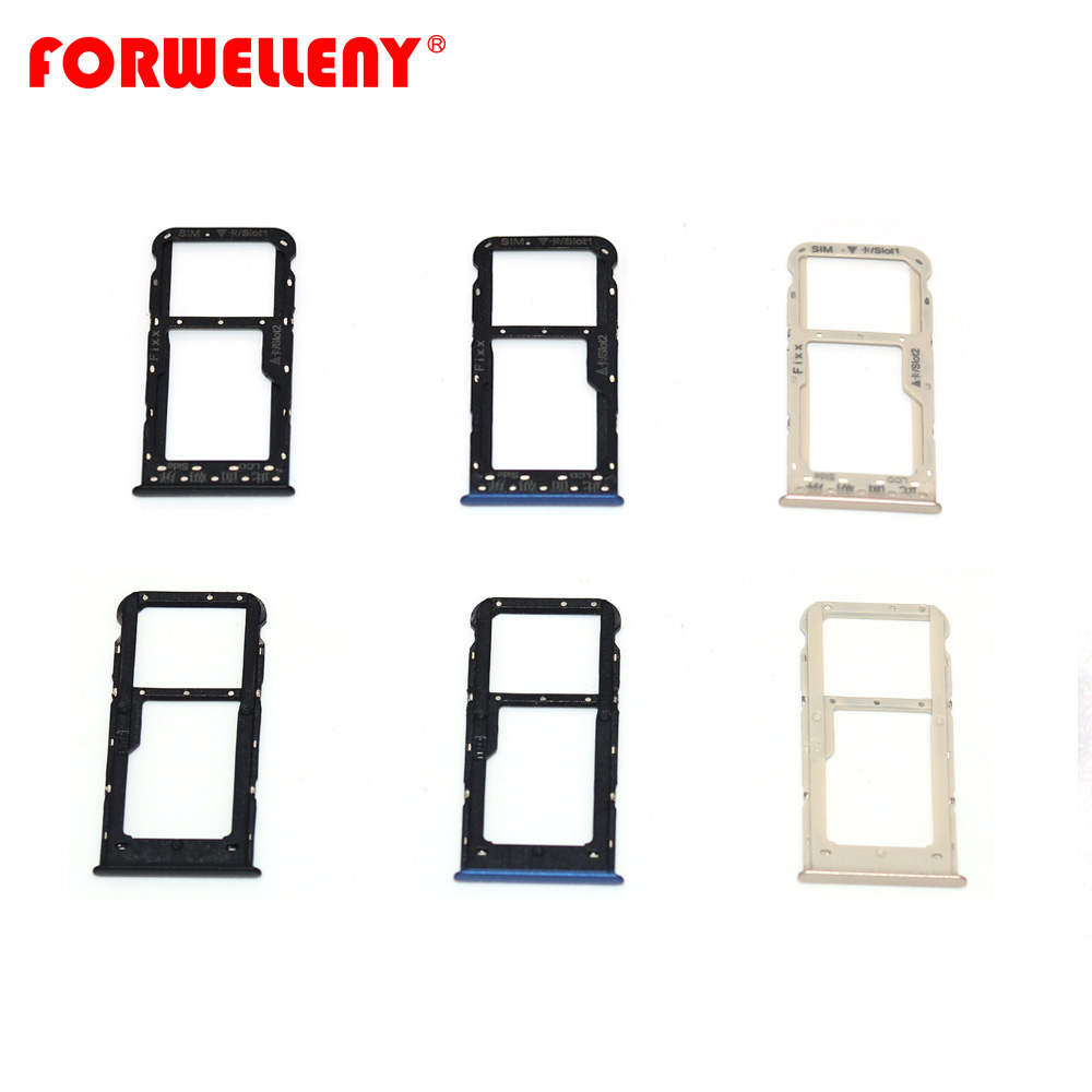 For Huawei P Smart / Enjoy 7S FIG-LX1 Micro Sim Card Holder Slot Tray Adapters Black Blue Gold FIG-LA1 FIG-LX2 FIG-LX3
