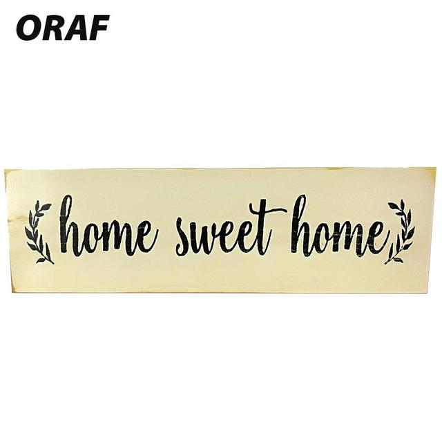 Wood Signs Home Wood Plaques Creative Home Sweet Home Home Decorative  Farmhouse Style Sign Wooden Signs Decor